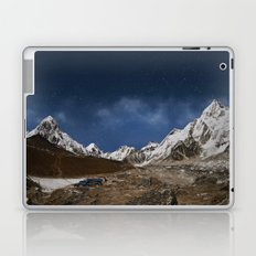 Himalaya mountain with star in night time,near Gorak Shep village - Nepal, Himalayas Laptop & iPad Skin