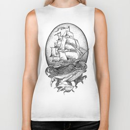 GUIDED BY WHALES Biker Tank