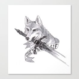 The Great Grey Wolf in the Woods Canvas Print