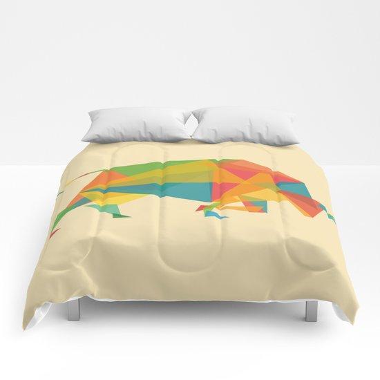 Fractal Geometric Bull Comforters