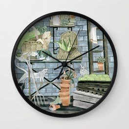 Garden Theme Wall Clock