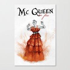 Mc Queen on fire Canvas Print