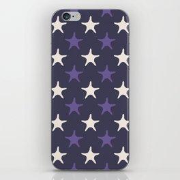 Ultra violet starfish seamless pattern. iPhone Skin