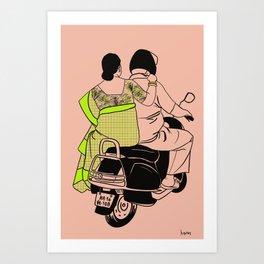 Delhi ride Art Print