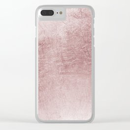 Modern elegant rose pink abstract pattern Clear iPhone Case