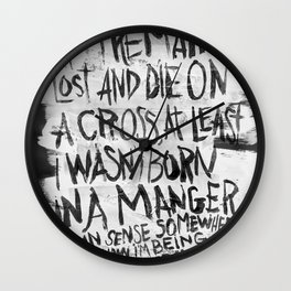 BORN IN A MANGER Wall Clock