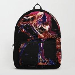 Splatter Hoop Dark Backpack