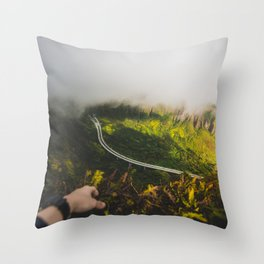 Stairway to heaven, Hawaii Throw Pillow