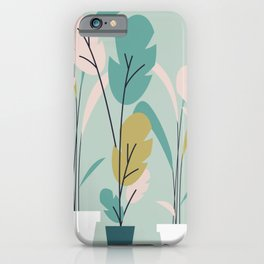 Modern Indoor Plants iPhone Case