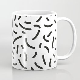 microbiology bacterial cell structure black - white Coffee Mug