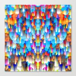 Colorful digital art splashing G397 Canvas Print