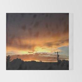 118 Ave, 95 st. Golden Sunset Throw Blanket