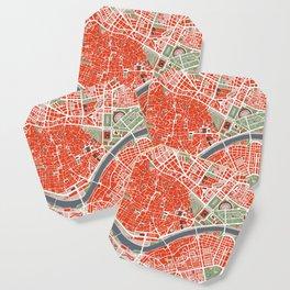 Seville city map classic Coaster