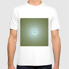 Psychodelik number 2    (A7 B0013) MEDIUM Mens Fitted Tee White