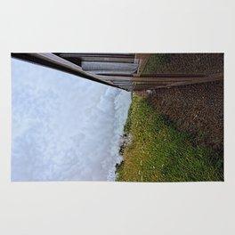 Steam train coach reflection Rug