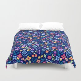 """Cute Floral pattern in the small flower. """"Ditsy print"""". Vintage. Duvet Cover"""