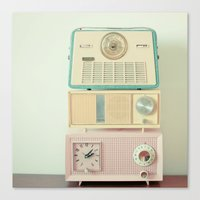radio Canvas Prints featuring Radio Stations by Cassia Beck