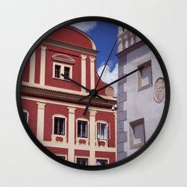 Bold European Building Wall Clock