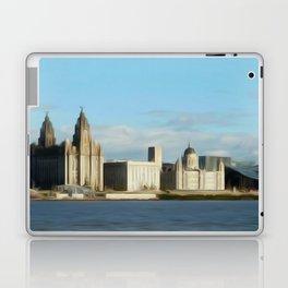 Liverpool Waterfront (Digital Art) Laptop & iPad Skin