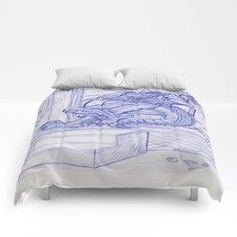 The Cajun Gator_Chillaxing Comforters