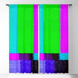 A distorted tv transmission or VHS tape, a badly eaten noisy signal of SMPTE color bars (a television screen test pattern). Vintage photo. Retro background. Blackout Curtain