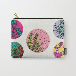 Floral Disks Carry-All Pouch