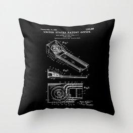 Skee Ball Patent - Black Throw Pillow