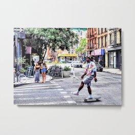 L.E.S. Kick Push Metal Print