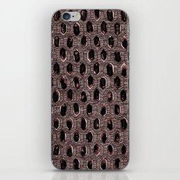 Watercolour Blackwork: 'Lozenge' Burnt Rose 1 (dark) iPhone Skin