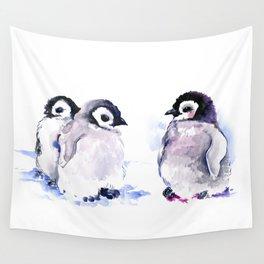 Penguins, penguin design baby penguin art, children gift Wall Tapestry