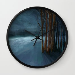 Endless Night Landscape Wall Clock