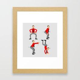 KRAF-TWERK Framed Art Print