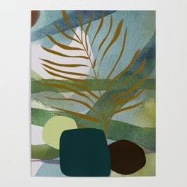 Blue green jungle Poster