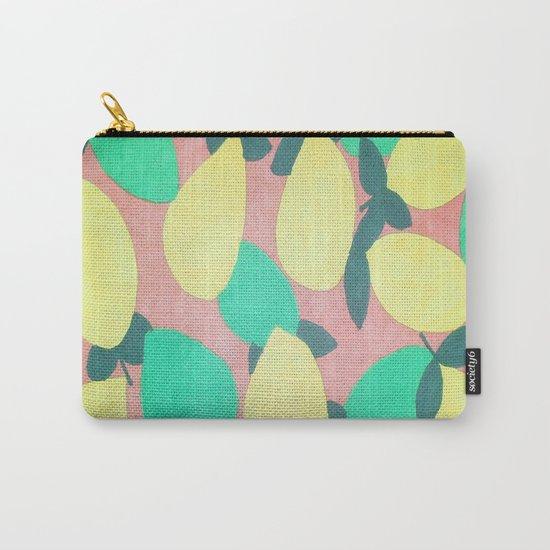 Lemony Fresh Citrus Pattern Carry-All Pouch