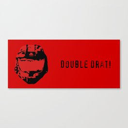 Red vs. Blue - Double Drat - Sarge Canvas Print