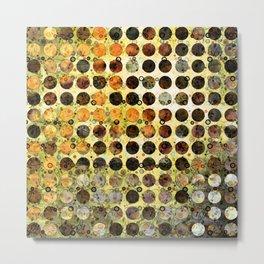 MELANGE OF YELLOW OCKER and BROWN Metal Print
