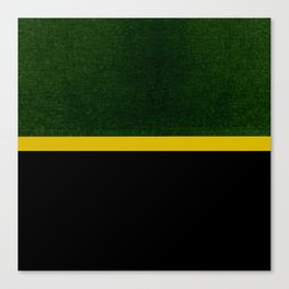 Green, Gold And Black Color Block Canvas Print