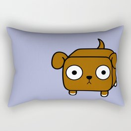 Pitbull Loaf - Red Brown Pit Bull with Floppy Ears Rectangular Pillow