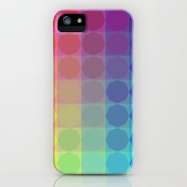 2020 Summer Vibes color harmonies octagonal pattern iPhone Case