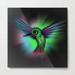 Hummingbird Color Cosmic Metal Print