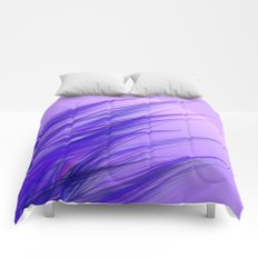 lilac grass Comforters