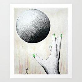 Catching  Art Print