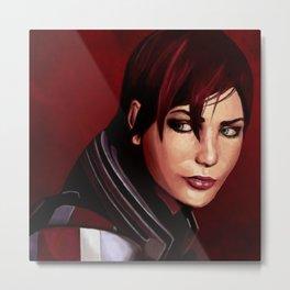 Commander Shepard Metal Print
