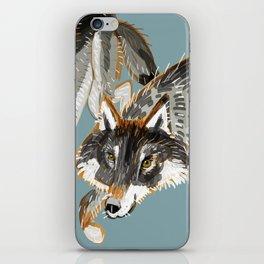 Totem Dark European Wolf iPhone Skin