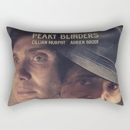 Peaky Blinders poster, Cillian Murphy is Thomas Shelby, Adrien Brody is Luca Changretta Rectangular Pillow