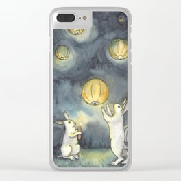 Sky Lanterns Clear iPhone Case