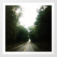Rainy Road Art Print