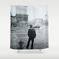 baltimore Shower Curtains featuring Baltimore by Nick Coleman