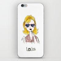 lolita iPhone & iPod Skins featuring Lolita by Gabriela Sá