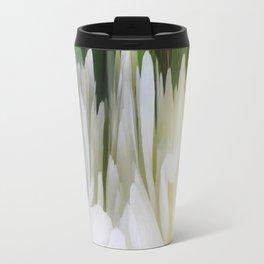 501 - White Peony Abstract Travel Mug